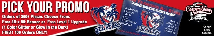 Cooperstown Cheap Team Trading Pin Promotion